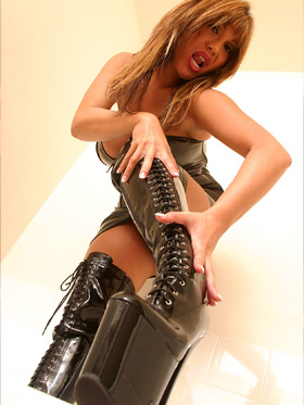 Mistress wearing boots